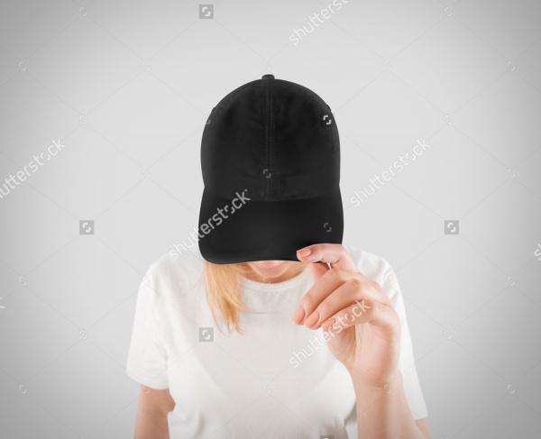 Gray Hat & T-shirt Uniform Mock up