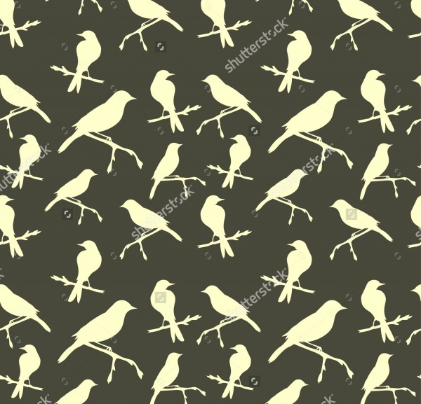 Grey birds Pattern vector
