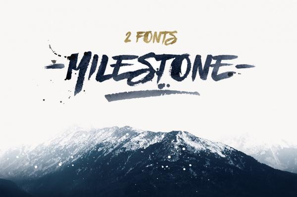 Hand Splattered Milestone Font