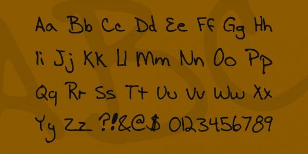 Hand written Masculine Text Font