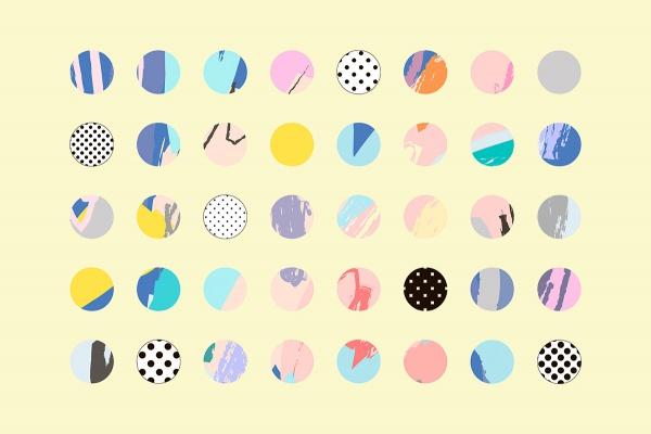 Happy Circles Decorative vector