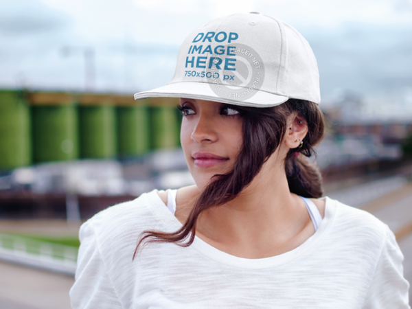 Hat Mockup of a Woman Standing