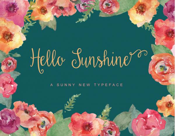 Hello Sunshine Script Font