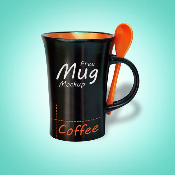 High Quality Black Mug Mock-up