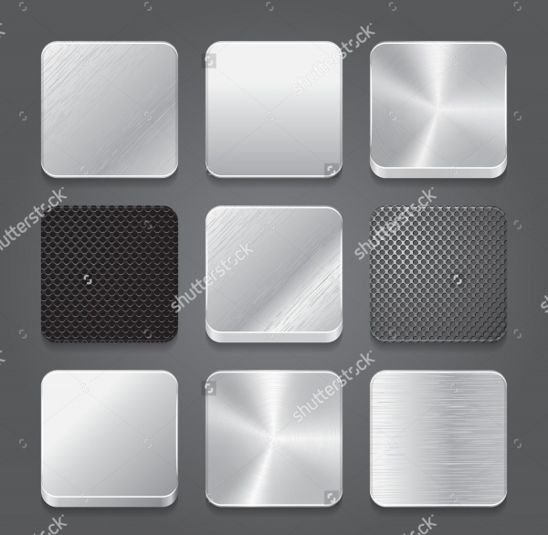 High Resolution Metal Button Vector