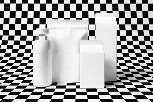 High Resolution Milk Bottle Mockup
