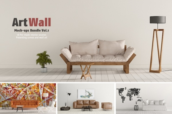High Resolution Wall Art Mock-Up Bundle