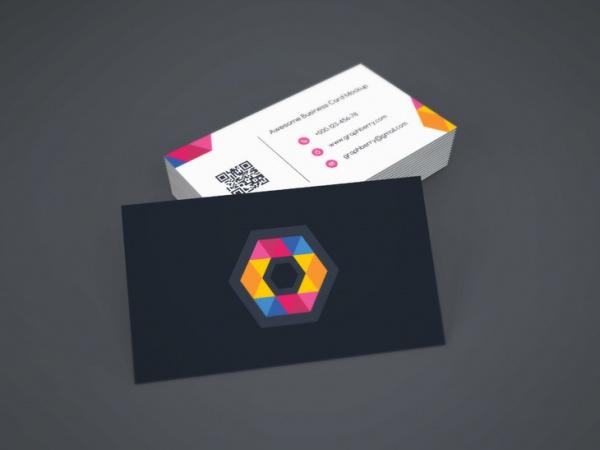 Highly Editable Folded Card Mockup