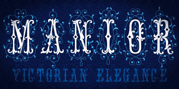 Historical Flourish Embroidery Font