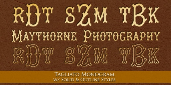 Historical monogram decorative Font