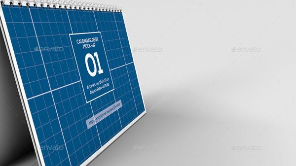 horizontal calendar event mockup