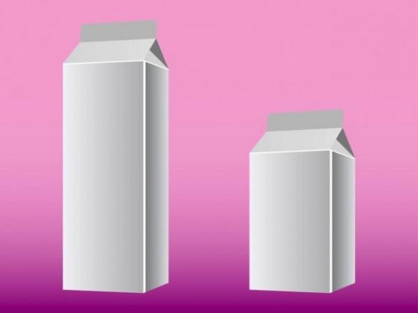 Horizontal Cardboard Milk boxes Mockup