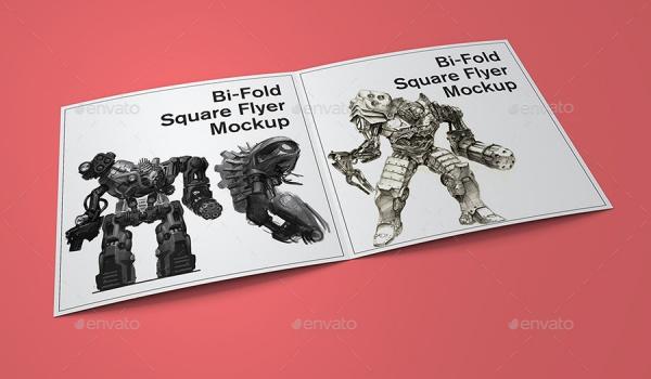 Horizontal Square Poster Mockup