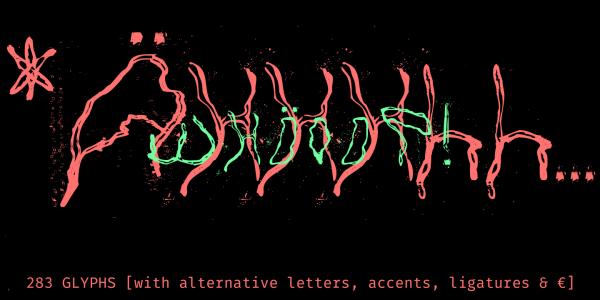 Horror Handmade Font