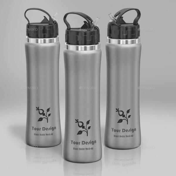 Hydration Supplement Drink bottle Mockup