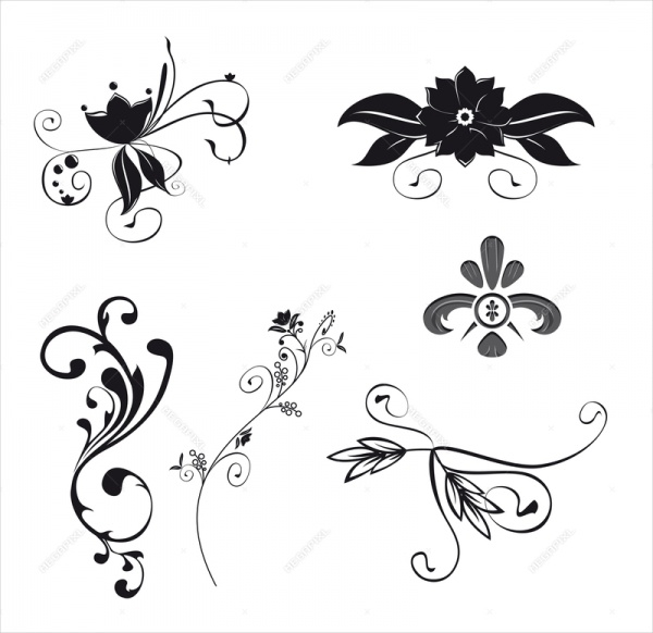 Illustration Floral Ornaments