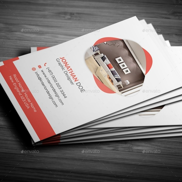 10 awesome interior design business cards freecreatives for Interior design business
