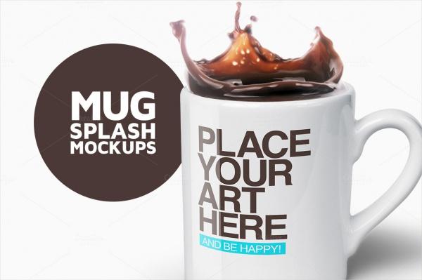 Isolated Mug Splash Mockups