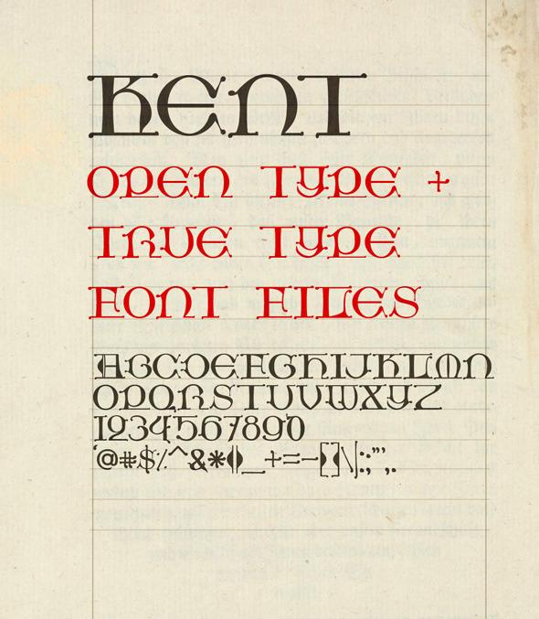 Kent Medieval Fonts
