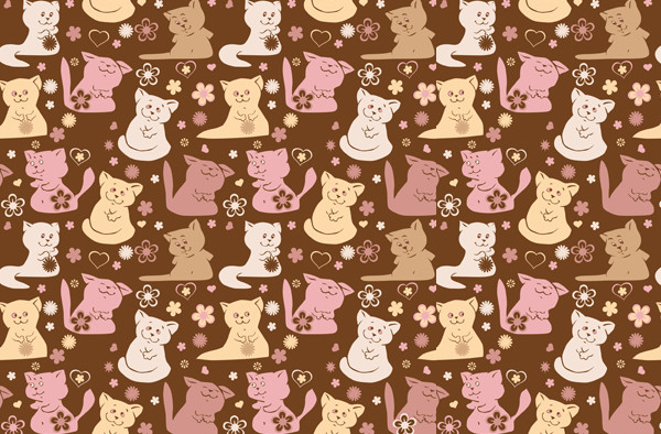 Kitties Pattern for Desktop