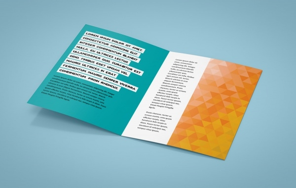 Leaflet mockup A5 Bi-Fold