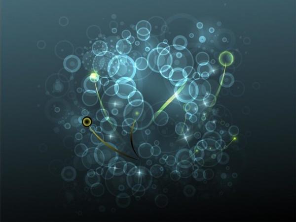 Lights And Circles vector