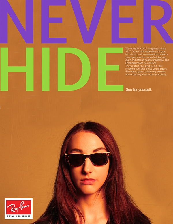 Magazine Advertisement Sunglasses Mockup