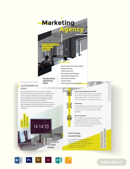 marketing bi fold brochure template1