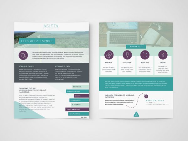 15 marketing brochures social media brochures for Sales slick template
