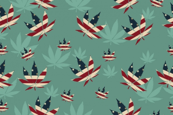 Medical Herb Weed Pattern