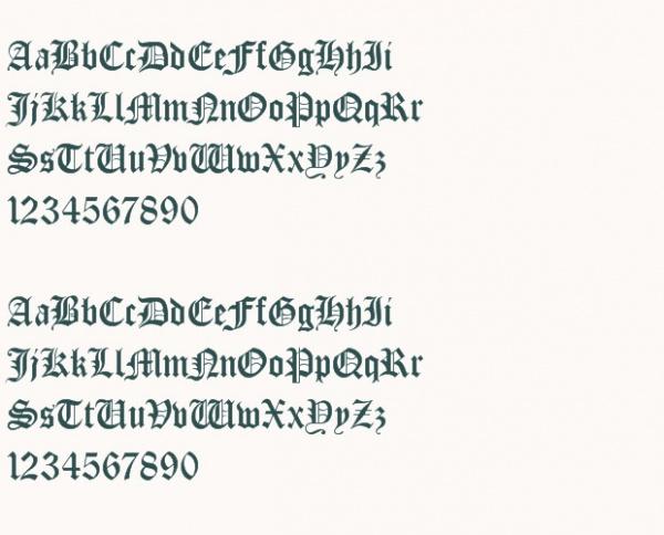 Medieval Alphabetical Font