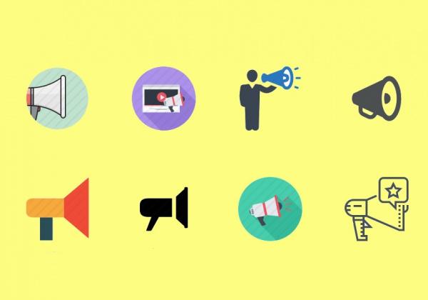 megaphone icon set