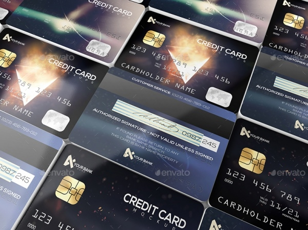 Membership Or Credit Cards Mock-up
