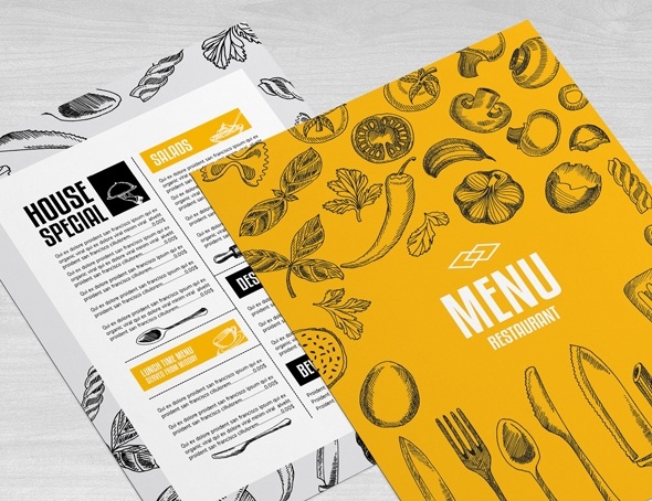 Menu restaurant brochure design