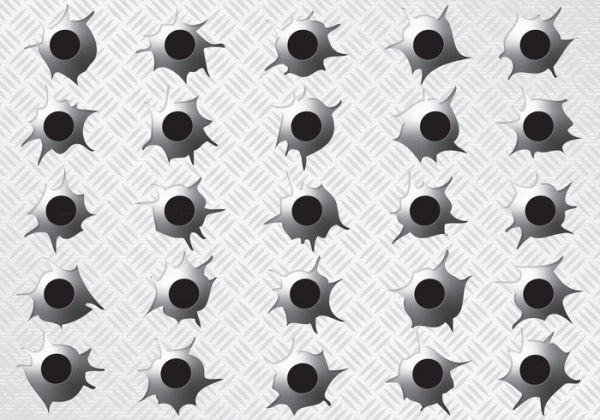 Metal Bullet Holes