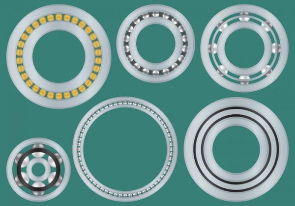metal chrome vector bearings