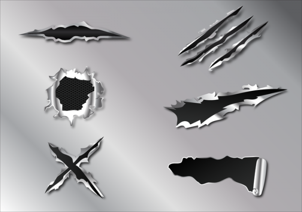 metal tear vector