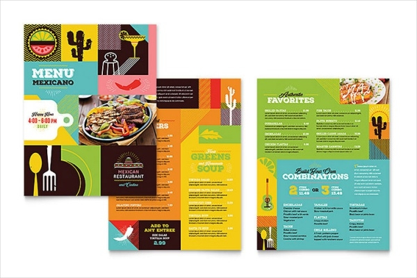 Mexican Restaurant Menu Brochure