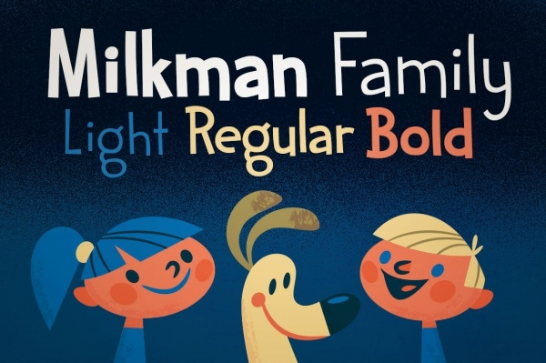Milkman Cartoon Font