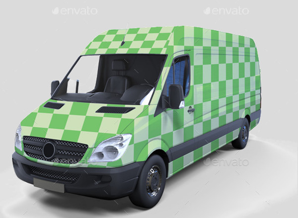 Mini Decorative Van MockUp