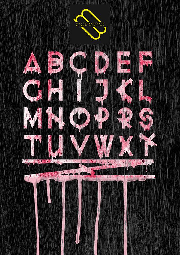 Minimal Graffiti Horor Font