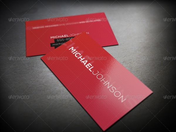 Minimalist Graphic Designer Business Card