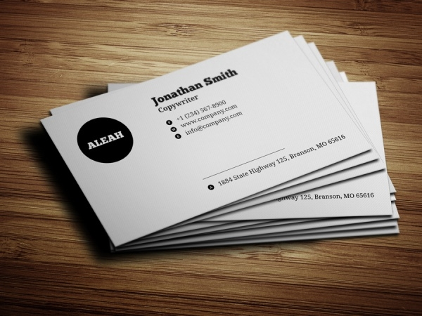 Minimalistic Black & White Business Card