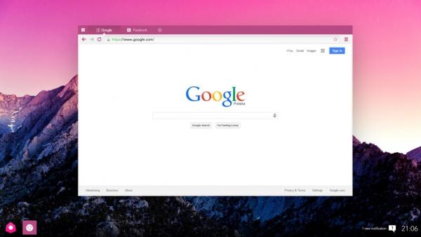 Minimalistic Chrome Mockup