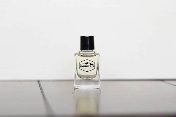 Minimalistic White Perfume Glass Mockup