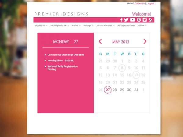mockup event calendar