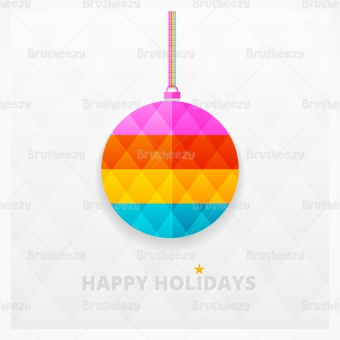 Modern Bright Christmas Ornament Vector