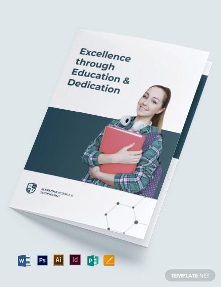 modern education bi fold brochure template1