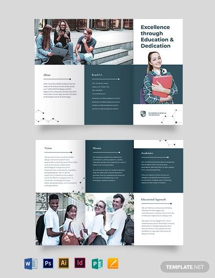 modern education tri fold brochure template1