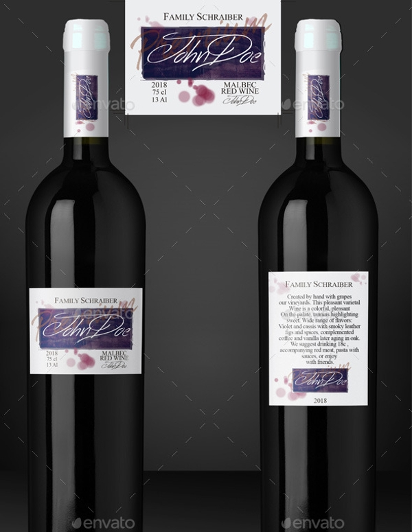 Modern Wine Label Premium